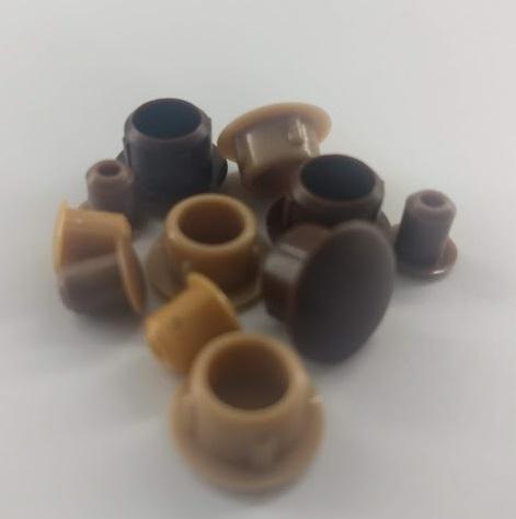10 Stück Bohrlochabdeckung Stopfen Abdeckkappe Abdeckstopfen aus Kunststoff für Holz Bohrloch Möbel