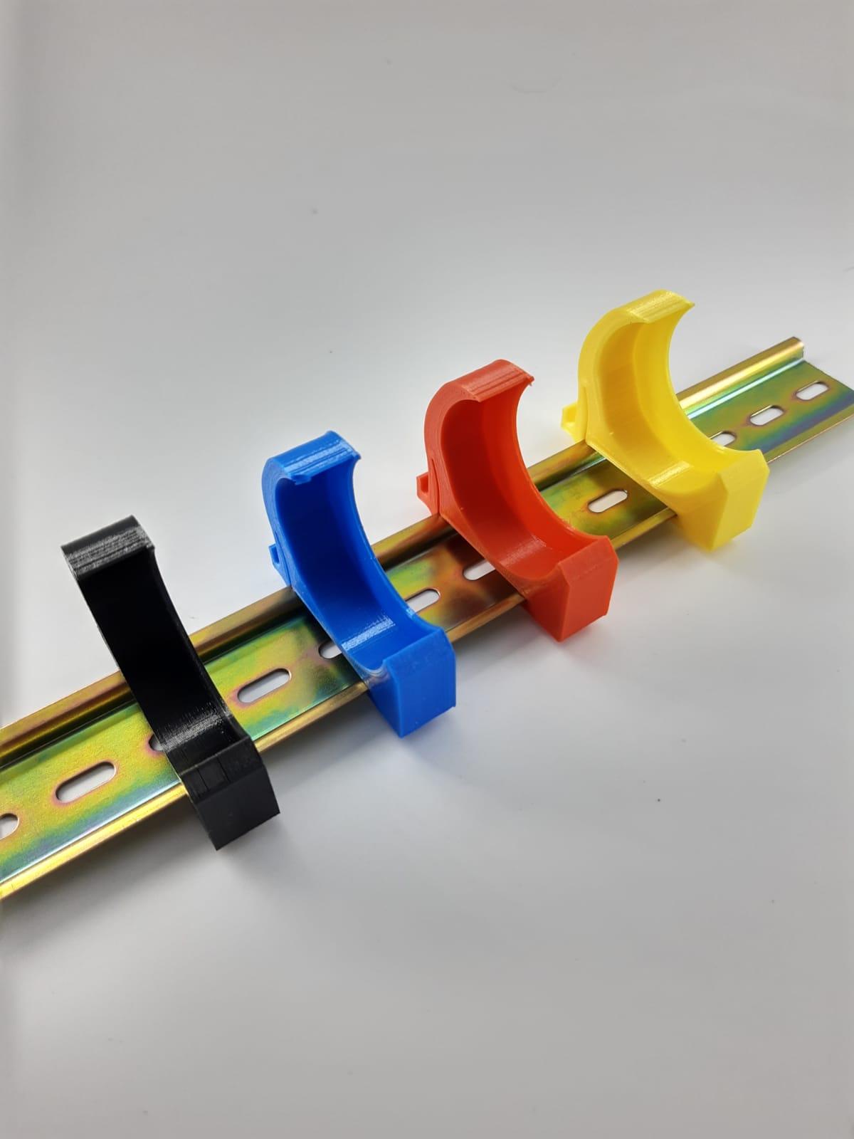 3er Set Hutschienenhalter - Hutschienen-Adapter (35mm) Shelly 1 oder 1PM - 1fach Blau MINI
