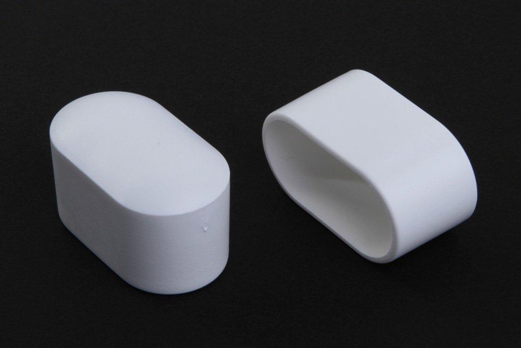12 Stück Stuhlbeinkappe Stuhlbeinschutz Bodenschutz, 38 x 20 mm, Weiss, aus Kunststoff
