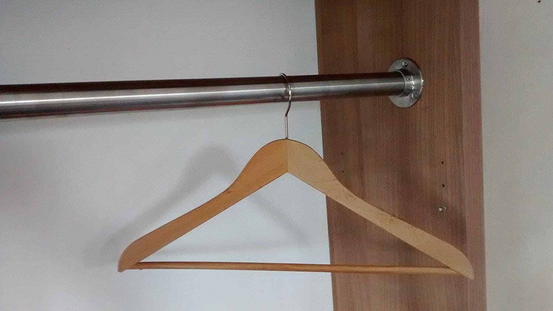 Premium Edelstahl Kleiderstange in Ihrem Wunsch-Maß - Edelstahl V2A D 33,7 mm von 151 - 200 cm