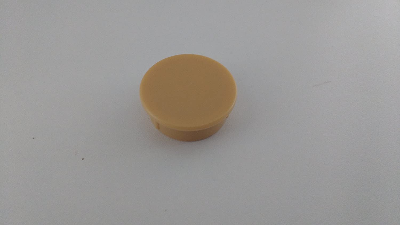 4 Stück Beige Buche Eiche Natur Abdeckkappen Abdeckknöpfe Bohrlochkappen zum Eindrücken 26 mm Bohrloch - z.B. für Scharnierbohrung