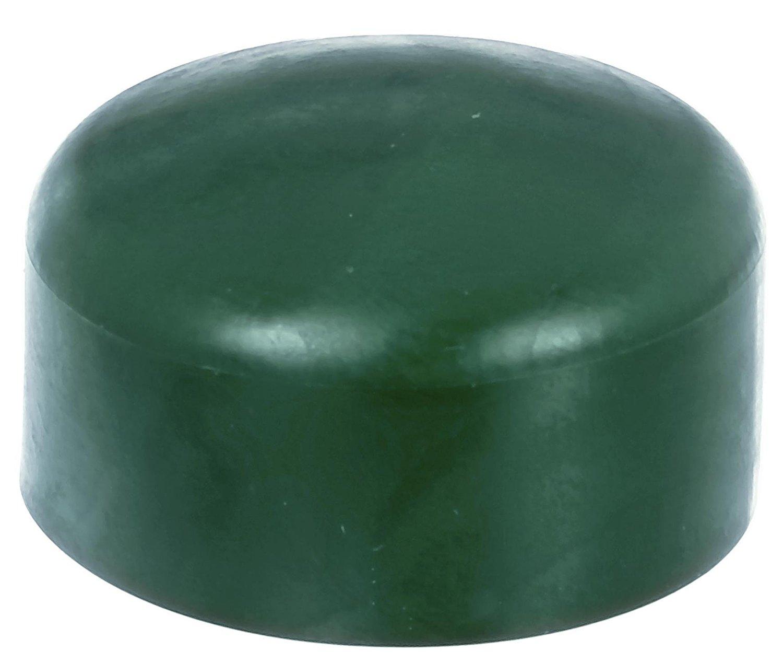 4 x Zaunkappe grün 43-44 mm, Pfostenkappe für runde Metallpfosten, grün, Rohrkappen, Abdeckkappe für