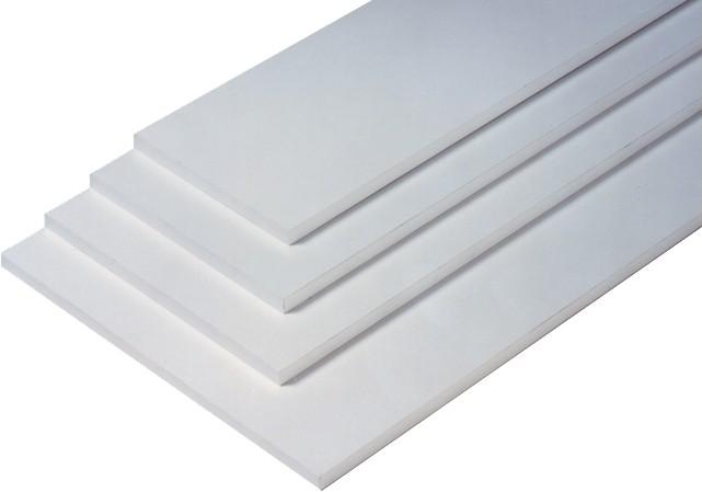 2 er Set - 2 Stück Regalboden Einlegeboden WEISS 567 x 283 mm (L 56,7 cm x B 28,3 cm) Fachboden für