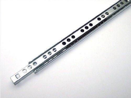 10 Schubladenschienen Teilauszug Rollenauszug Teleskopschiene Kugelführung L 430 / 438 mm Nut 17x10m