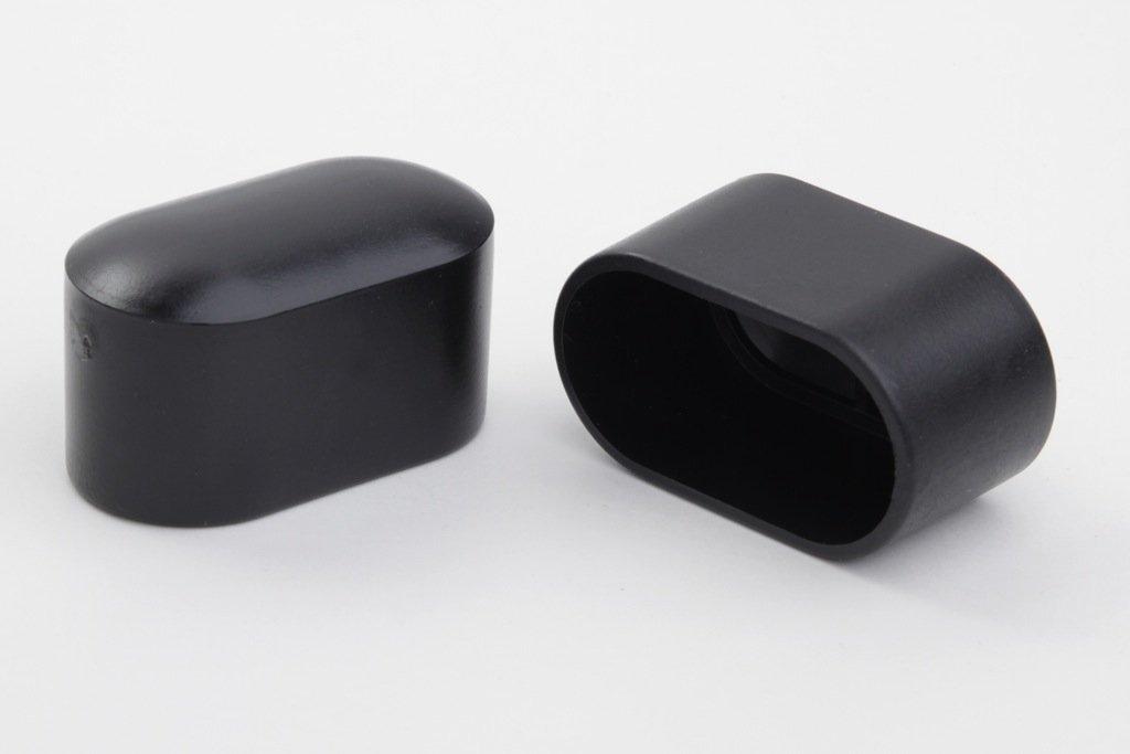 8 Stück Stuhlbeinkappe Stuhlbeinschutz Bodenschutz, 38 x 20 mm, schwarz, aus Kunststoff